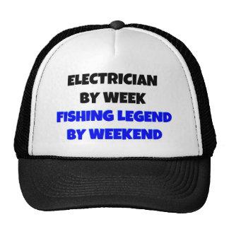 Electricista por leyenda de la pesca de la semana  gorro de camionero