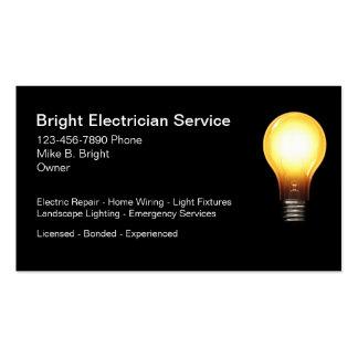 Electricista profesional tarjetas de visita