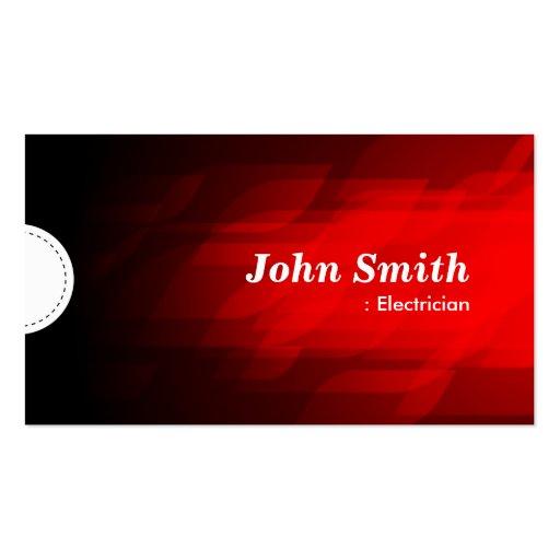 Electricista - rojo oscuro moderno tarjeta de negocio