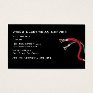 Electricista simple tarjeta de negocios