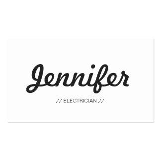 Electricista - sucinto simple elegante tarjetas de visita