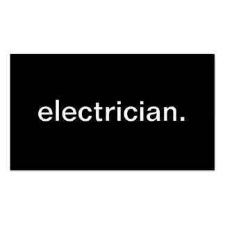 Electricista Tarjetas De Negocios