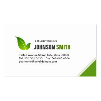 Electricista - verde moderno elegante tarjetas de visita