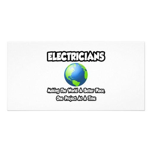 Electricistas… que hacen el mundo un mejor lugar tarjeta personal