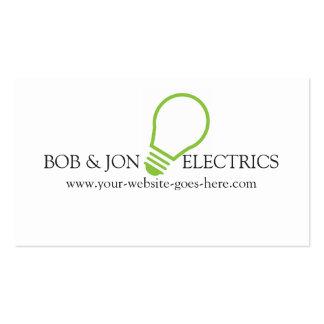 Eléctrico azul, tarjeta de visita del electricista