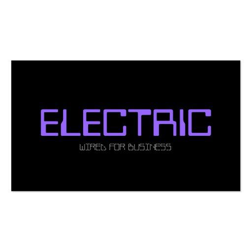 Eléctrico, electricista, bombilla de la tarjetas personales