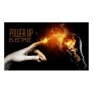 Eléctrico, electricista, tarjeta de visita de la tarjetas de visita