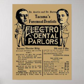 Electro anuncio dental del dentista de Palor del Póster