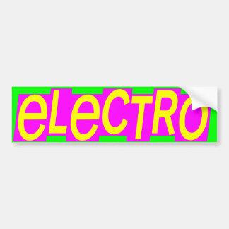Electro del vintage del tigre 80s de Corey Etiqueta De Parachoque