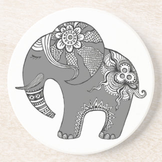 Elefante 4 posavasos de arenisca