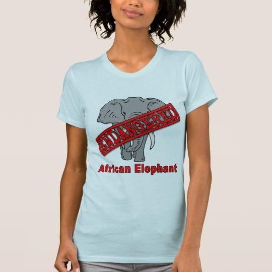 Elefante africano animal en peligro camiseta