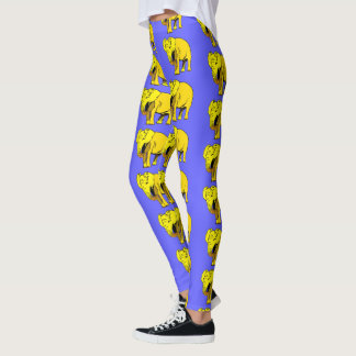 Elefante amarillo leggings