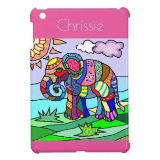 Elefante artístico colorido femenino personalizado