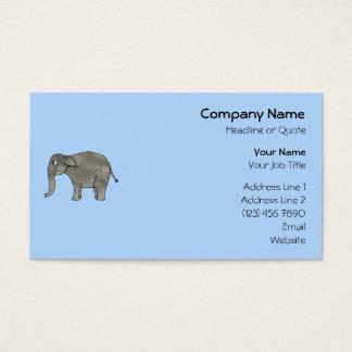 Elefante asiático, en azul claro. tarjeta de negocios