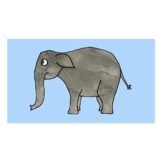 Elefante asiático, en azul claro. tarjetas de visita