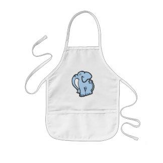 elefante azul delantal infantil