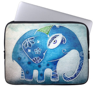 Elefante azul funda para ordenador