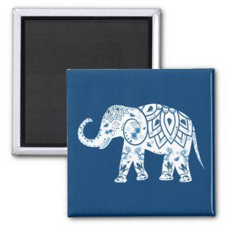 Elefante azul modelado adornado imanes