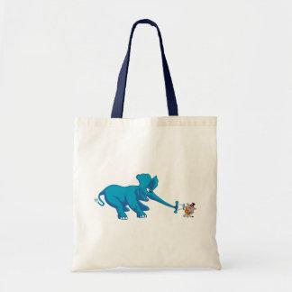 Elefante azul y el gato fuerte del circo bolsas