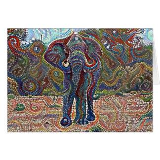 Elefante Bejeweled Tarjeta De Felicitación