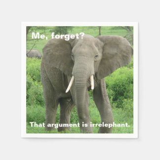 Elefante cerca de Ndutu Servilletas Desechables