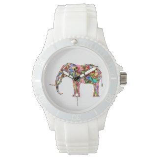Elefante colorido reloj de pulsera