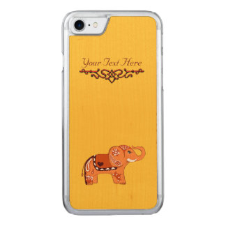 Elefante de la alheña (naranja/rojo) funda para iPhone 7 de carved