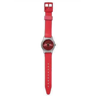 Elefante de la alheña (rojo/rosa) reloj de pulsera