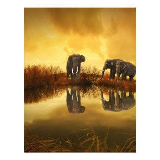 Elefante de la fantasía folleto 21,6 x 28 cm
