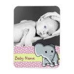 Elefante de la foto del bebé imán de vinilo