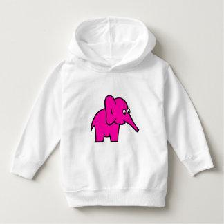 Elefante de la púrpura de la sudadera con capucha