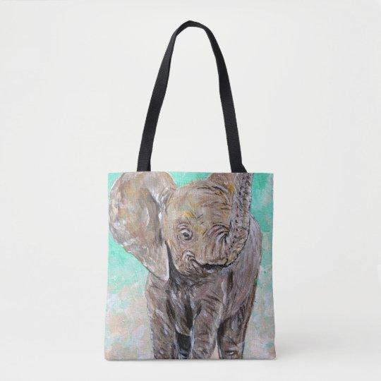 Elefante del bebé bolsa de tela