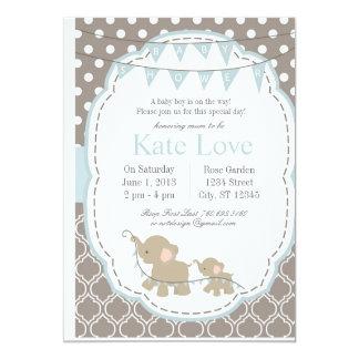 Elefante del bebé - invitación de la fiesta de