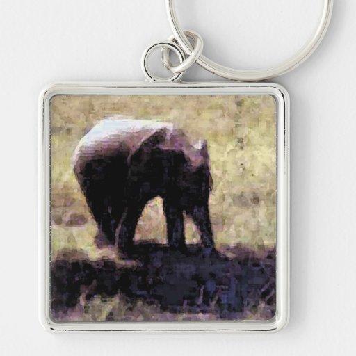 Elefante del bebé llaveros