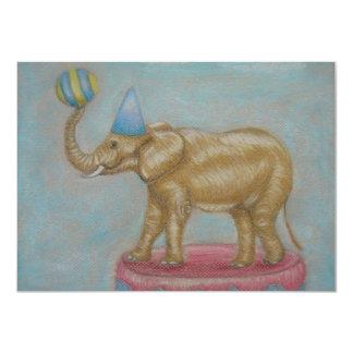 elefante del circo invitación 11,4 x 15,8 cm