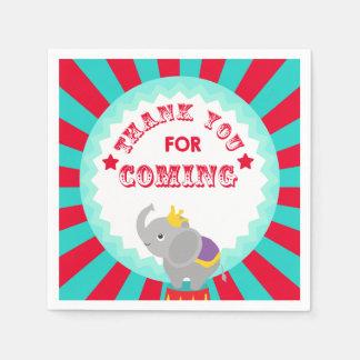 elefante del circo servilleta desechable