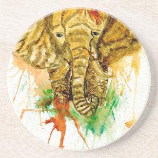Elefante del dibujo animado posavasos de arenisca