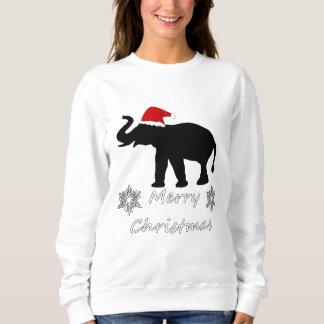 Elefante del navidad sudadera