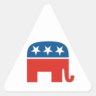 elefante del Partido Republicano de los Estados Pegatina Triangular