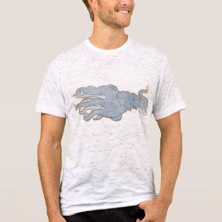 Elefante del pulpo del vintage camiseta