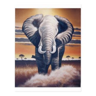 Elefante del safari postal