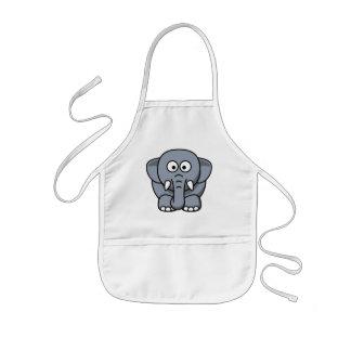 Elefante divertido lindo delantal infantil