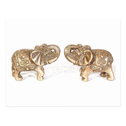 Elefante doble de feng shui postal zazzle for Elefantes decoracion feng shui