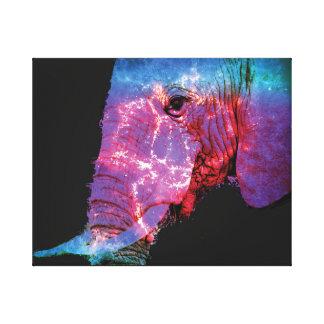 Elefante eléctrico impresión en lienzo