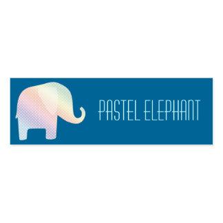 elefante en colores pastel tarjetas de visita mini