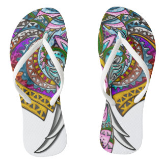 Elefante Jeweled, correas delgadas Chanclas