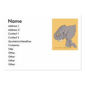 Elefante joven tarjetas de visita grandes