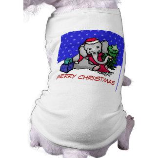 Elefante lindo de las Felices Navidad del dibujo