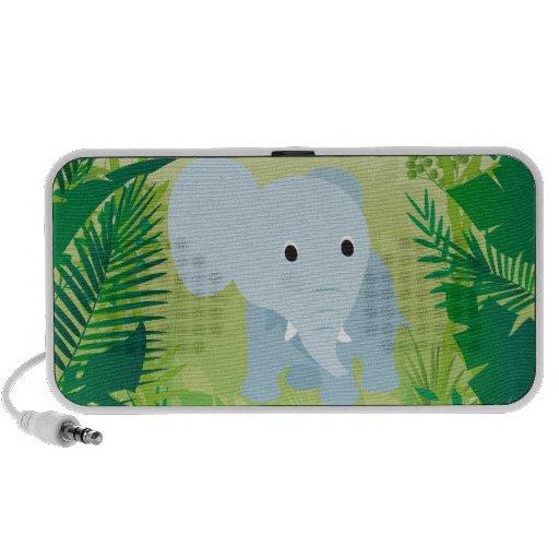 Elefante lindo del bebé altavoces