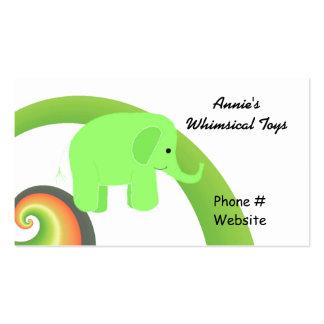 Elefante lindo del dibujo animado tarjetas de visita